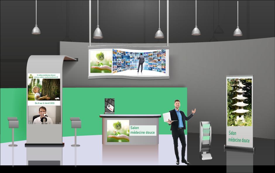 Stand salon virtuel santé